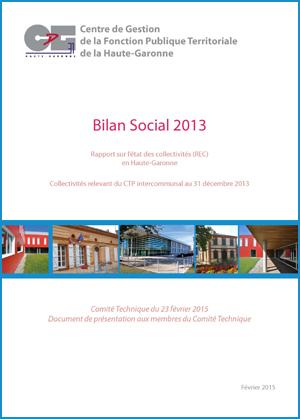 Couverture de la publication Bilan social 2013