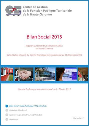 Couverture de la publication Bilan social 2015