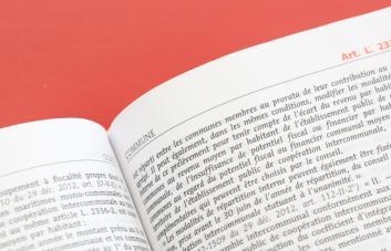Page intérieure d'un code juridique