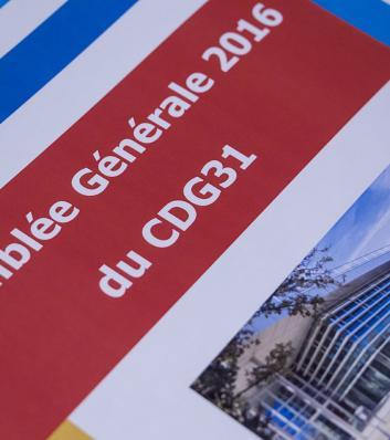 Assemblée générale 2016 du CDG31 : dossier remis aux participants