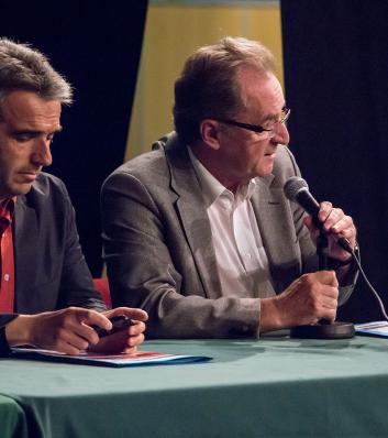 Assemblée générale 2016 du CDG31 : Jean-Raymond Lépinay, Président de la Communauté de communes du Saint-Gaudinois et Jean-Yves Duclos, Conseiller départemental du canton de Saint-Gaudens