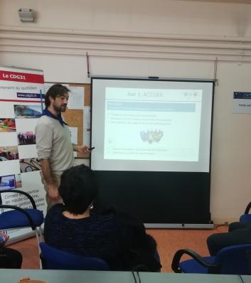 photo de l'atelier petite enfance lors du forum de prévention des troubles musculo squelettiques