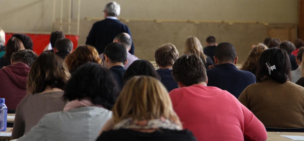 Candidats présentant une épreuve d'un concours de la fonction publique territoriale