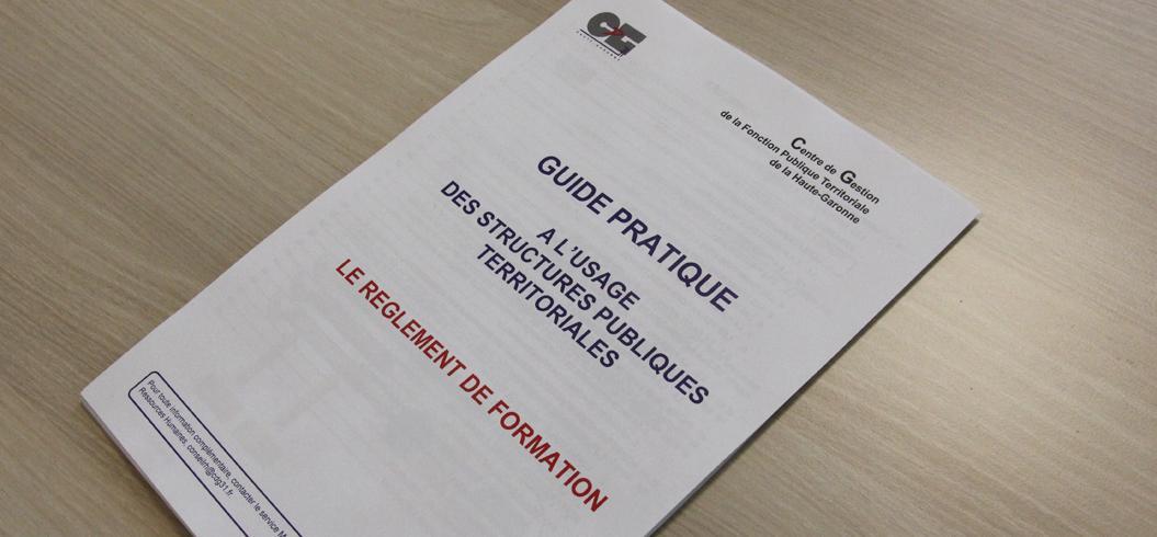 Couverture d'un modèle de règlement de formation du CDG31