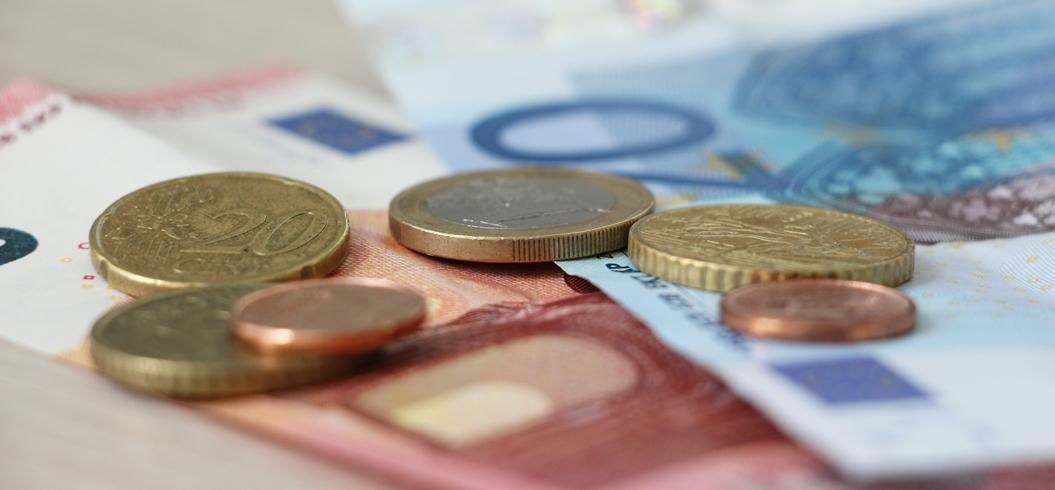 Pièces de monnaie et billets en euros