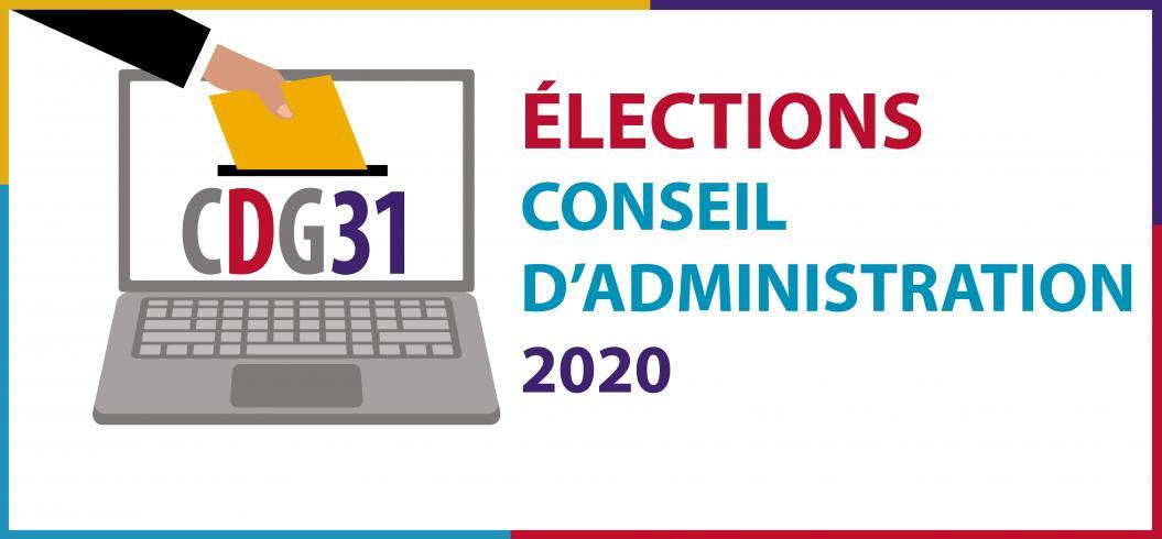Logo élections Conseil d'Administration du CDG31 2020